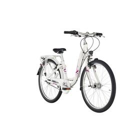 """Puky Skyride Light 24"""" Lapset lasten polkupyörä 7-vaihteinen , vaaleanpunainen/valkoinen"""